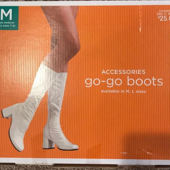 Target Shoes   White Gogo Boots   Poshmark